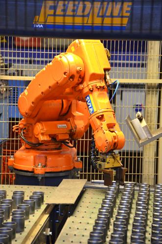 Vision styrd robot laddning